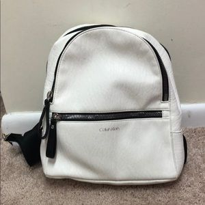 Brand new Calvin Klein backpack leather white